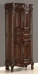 Narrow Linen Cabinet Furniture Tall White Linen Cabinet Bathroom Vanity And Linen