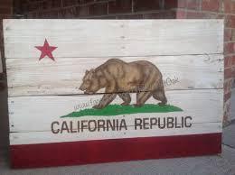 california republic state flag hand