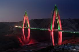 luminaries spectacular lighting display. Illuminating The Longest Cable-Stayed Bridge In Africa Luminaries Spectacular Lighting Display