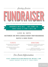 fundraising flyers for fundraising advertisement and promotion sunday session fundraiser event flyer proudly bought to you by st hakea events sthakea