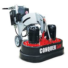 conquer twin concrete floor grinder and polisher