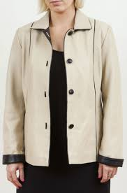 women s taupe leather jacket cameo plus size