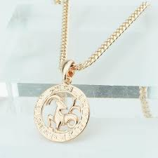 2019 fj 12 zodiac sign womens mens 585 rose gold color constellation pendants pisces aquarius curb necklace chain from starch 22 04 dhgate com