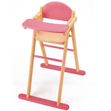 pintoy wooden dolls high chair image 1