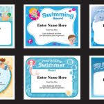 Swimming Certificate Template Gimpexinspection Com