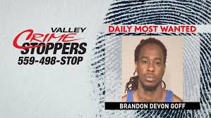 Crime Stoppers Daily Most Wanted: Brandon Devon Goff | KMPH