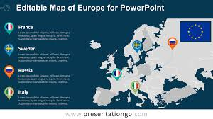 free editable maps europe editable powerpoint map presentationgo com