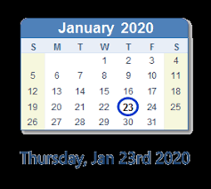 Chinese Calendar January 2020 January 2020 Calendar With Holidays United States