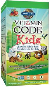 vitamin code kids chewable whole food multivitamin for kids 60 chewable bears