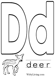 Small Picture Coloring Pages Letter D Kids Crafts for Kids to Make Craft
