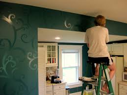 Paint For Kitchen Walls Budget Kitchen Updates Accent Wall And Faux Painted Backsplash