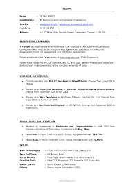 Resume Developed Web Services