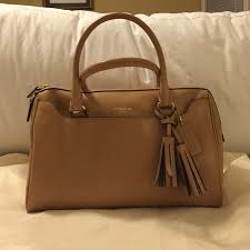 ... top quality coach legacy leather haley satchel sand color. tiny blemish  on bottom. excellent ...