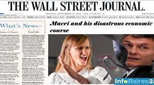 Resultado de imagen para the wall street journal contra macri