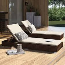 outdoor wicker reclining chaise lounge
