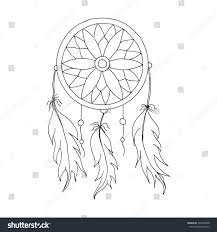 How To Draw A Dream Catcher Hand Draw Dreamcatcher Beads Feathers Birds Stock Vector 100 36