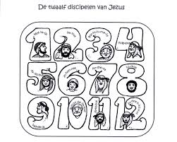 Kleur De Kleurplaat In Discipelen Van Jezus Kleurplaten Kleuren