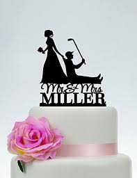 Funny Wedding Cake Toppers Bride And Groom Golf Wedding Cake