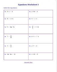 pre algebra equation worksheets