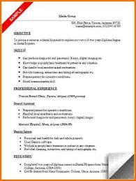 Dental Hygiene Resume Unique Personal Dental Resume Examples Visit ...