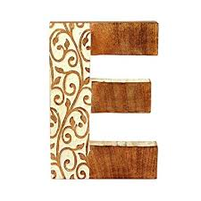 Amazon.com: aheli Wooden Decorative Hanging Wall Alphabet Letters ...