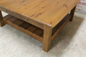 Slatted Coffee Table Rustic Square Coffee Table Lake And Mountain Home