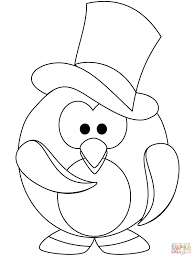 The Gentleman Penguin Coloring Page Outline Drawing 5 Cute Pages Of