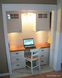 closet to office. closet turned office reveal to s