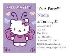 Hello Kitty Party Invitation Hello Kitty Birthday Invitation 7 From Southern Desktop Publishing