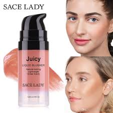 sace lady liquid blush makeup face rouge make up professional natural cheek blusher long lasting easy to wear face blusher covermark lipgloss from