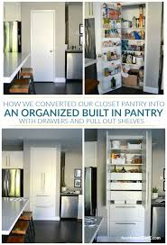 transform your dysfunctional closet pantry into an organized kitchen pantry with drawers and pull out shelves