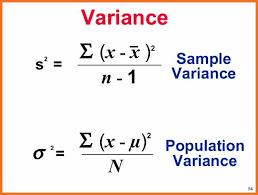 Variance Formula Standard Deviation Calculator