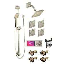 a large image of the moen u s6340 ts1320 4 brushed nickel