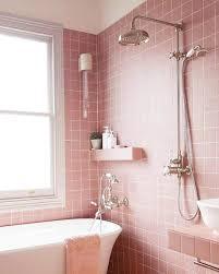 Bathroom Tub Wall Tile Designs 16 Pink Bathroom Ideas