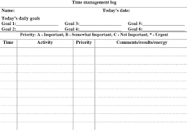 time management log 5 free time management forms