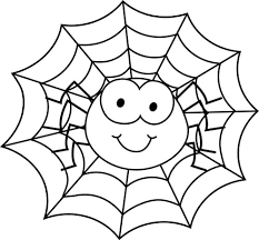 Small Picture Spider In Spider Web Coloring Page Cute Spider Pinterest