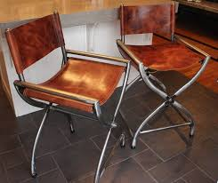 livingroom kitchen stool director chairs all raw steel wrapped in thick folding metal directors tall