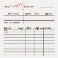 Weekly Budget Forms Free Monthly And Bi Weekly Budget Printables Money Things