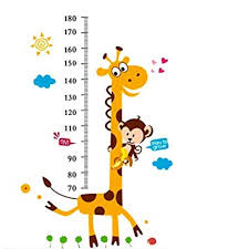 Kids Growth Chart Stick Height Growth Chart Sticker Outivity Peel And Stick Removable Wall Stickers For Kids Nursery