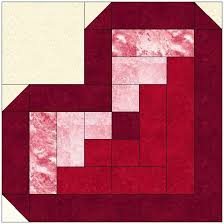 Log Cabin Heart Quilt Pattern
