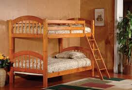 rustic wooden bunk beds