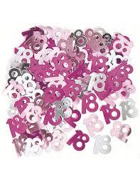 Confettis de table anniversaire 18 ans roses (14 g) - Mister Fiesta