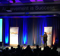 """HarrisMerton on Twitter: """"Our Principal, Aisha Samad welcoming our esteemed  guests and contestants to the #JPSpeakOut Regional Final… """""""