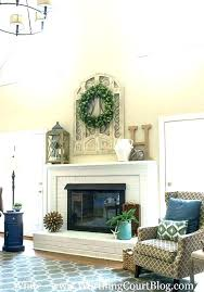 fireplace wall decor ideas brick decorating painted red