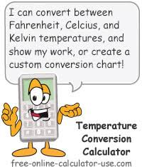 Fahrenheit To Celsius Chart Calculator Temperature Conversion Calculator With Chart Generator