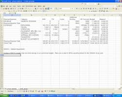 Operating Budget Template   Template Business