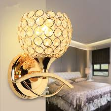 modern style bedside wall lamp bedroom stair lighting crystal wall lights e27 led bulb silver banner5 stair lighting