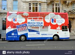 Graphic Design Jobs London England Bus Advertising Graphic Design Advert On Side View Of Double