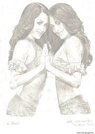 Bella Twins Coloring Pages Printable
