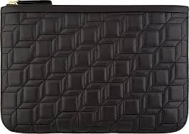 Pierre Hardy Black Quilted Leather Nappa Cb Clutch | Where to buy ... & ... Pierre Hardy Black Quilted Leather Nappa Cb Clutch ... Adamdwight.com